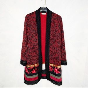 Chico's Mixed Print Open Front Jacket Gorgeous!